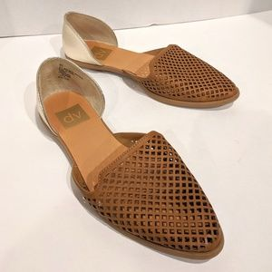 DV Perforated Paige Flats Rose Gold Tan Nude 6.5